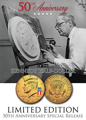 2016-P Kennedy Half Dollar Coin REVERSE MIRROR IMAGING /& FROSTING 24K Gold Issue