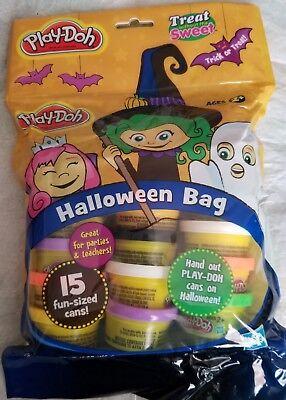 Play-Doh Halloween Bag~15 Fun size cans, each 1 oz