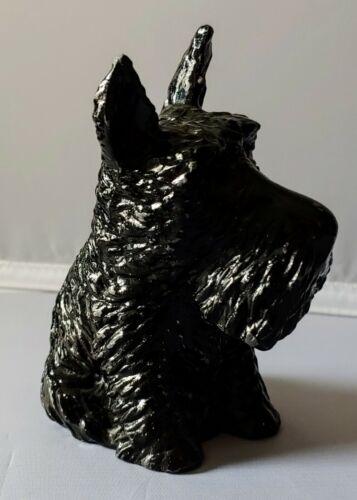 Vintage SCOTTISH TERRIOR STILL BANK Cast Metal Scottie Dog Figural 1930