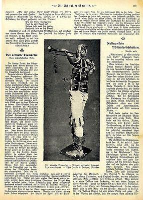 Der blasende Trompeter * Mälzels berühmter Automat * Historical Memorabilia 1909