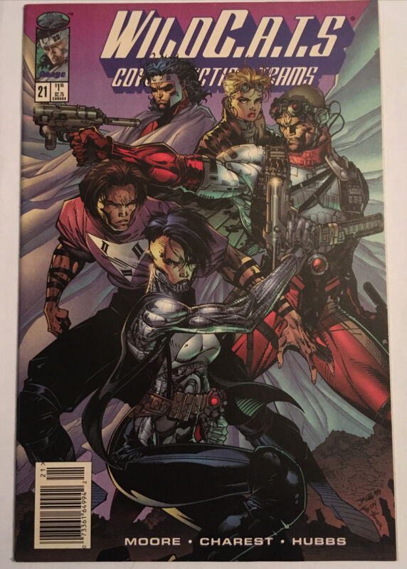 WILDC.A.T.S. #20 NEWSSTAND • Barry Windsor-Smith & Jim Lee Cover! 1995 Rare!