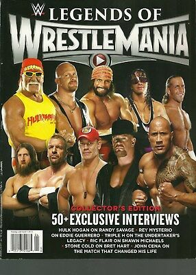 LEGENDS OF WRESTLEMANIA BOOK COLLECTOR'S EDITION 2015
