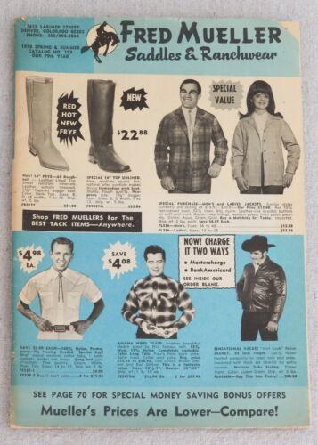 Fred Mueller Catalog Spring Summer 1970 Saddles Ranchwear Western Wear Cowboy