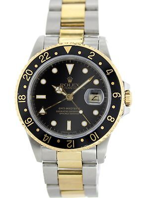 Rolex Oyster Perpetual GMT-Master II 18K 16713 Mens Watch