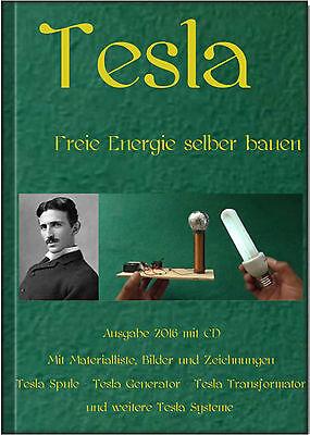 Tesla - Freie Energie selber bauen Hardcover Buch + CD Generator Spule Coil