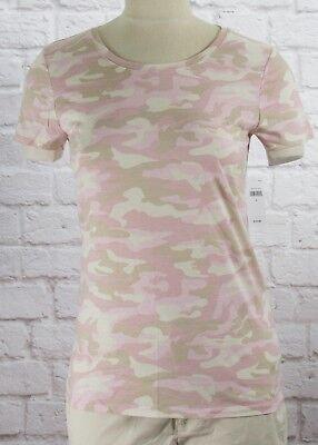 NWT Womens GAP Favorite Crew Neck T-Shirt Multi Color Camo Modal Blend - 798745