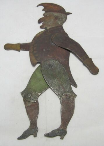 VERY RARE FOLK ART DANCING METAL MAN, PUNCH FROM PUNCH & JUDY. 1700