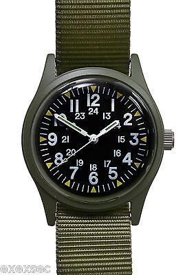 Military Industries Olive Drab 1960/70s Vietnam War Pattern Military Watch