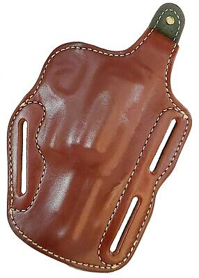 """TRIPLE K WOODSMAN HOLSTER FOR TAURUS JUDGE 3"""" OWB brown leather .45 .410 RIGHT"""