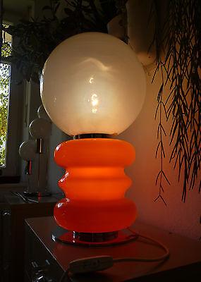 Space Age Tischlampe table lamp chrom Murano Glas Mazzega Aldo Nason 60er 70er