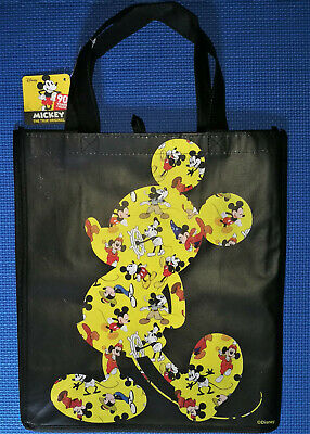 @DISNEY 90 YEARS MICKEY MOUSE SILHOUETTE LARGE REUSABLE TOTE/SHOPPING/GIFT - Disney Gift Bag