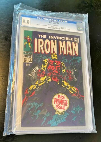 MARVEL • 1968 IRON MAN #1 • CGC 9.0 OW/WH PAGES