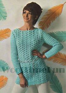 Crochet Pattern Lady's Summer Tunic/Jumper/Top. DK Yarn. 34 to 37 Inch Bust.