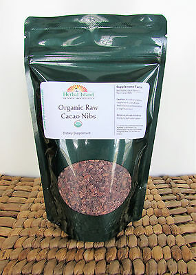 Cacao Nibs Raw 100% Pure Organic Certified Cocoa with Free Shipping Raw Cacao Nibs