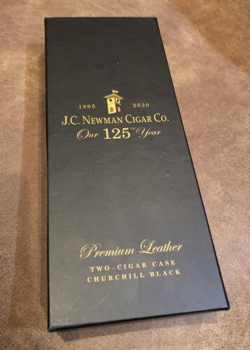 J.C. Newman 125th Anniversary Two-cigar Case Churchill Black New In Box - $30.00