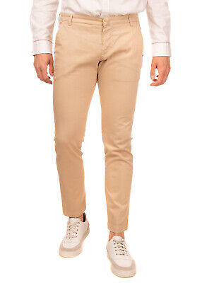 ENTRE AMIS Chino Trousers Size 34 Stretch Zip Fly Regular Fit Made in Italy