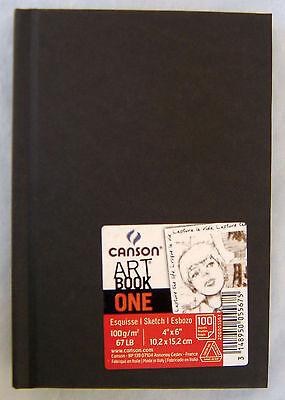 "Canson Art Book One Sketchbook Hardbound 4"" x 6""  67 lb 100 Sheets"