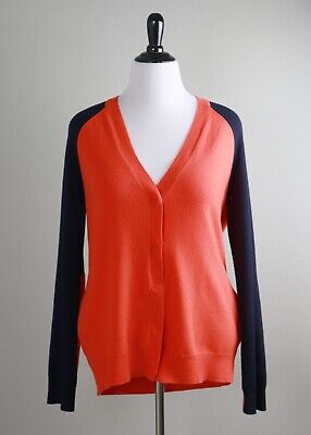 HALSTON HERITAGE $295 Wool & Cashmere Elbow Patch Sweater Top Size Large