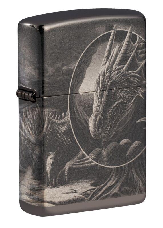 Zippo Lisa Parker Mythological Design Ebony Windproof Pocket Lighter, 49287