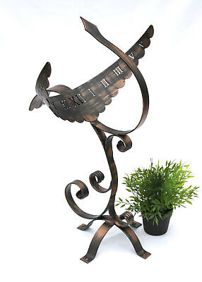 Sundial Garden Metal Antique Phoenix Wrought Iron Weatherproof 65 CM Sun Dial