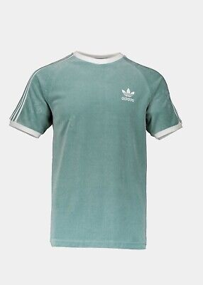 BNWT Adidas Originals Cozy Velour T-Shirt Vapour Steel (Green) DV1623 - XS