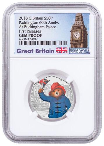 2018 Britain Paddington Bear Buckingham Palace Silver NGC GEM Proof FR SKU54486