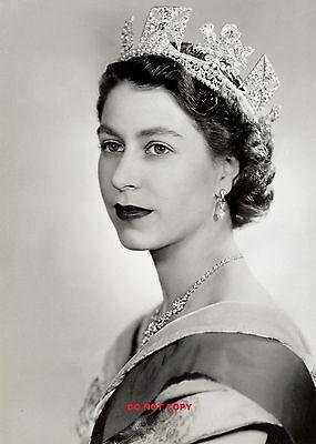 "HM QUEEN ELIZABETH II 1952 A4 GLOSSY new PHOTO PRINT ROYAL FAMILY 11.75""X8.25""#1"