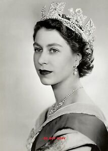 HM QUEEN ELIZABETH II 1952 A4 GLOSSY new PHOTO PRINT ROYAL FAMILY 11.75