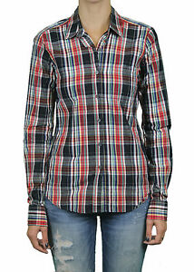 STEVEN-ALAN-Black-amp-Red-Plaid-Reverse-Seam-Button-Down-Shirt-WST03CT-NWT-158