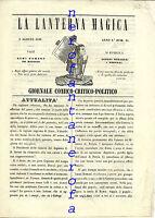 Raro La Lanterna Magica Giornale Comico-politico-1848(satira,globo Aerostatico) -  - ebay.it