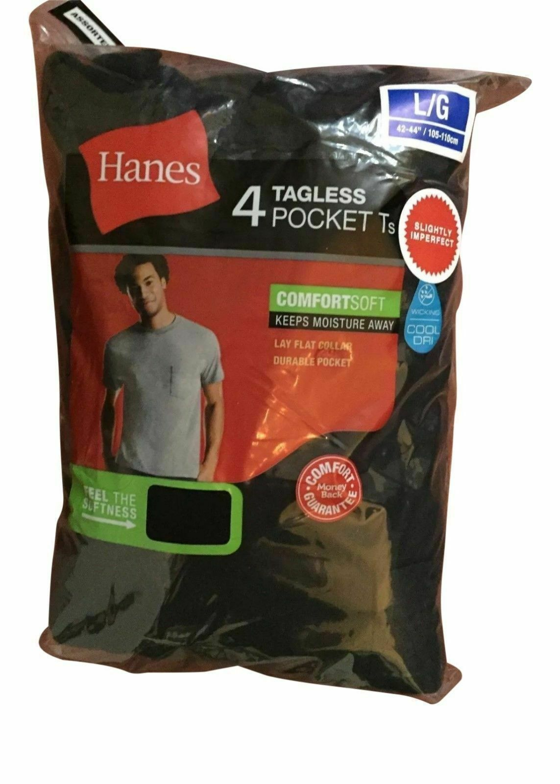 Hanes Men's Pocket T-shirts Tees 4-pack Sizes Clothing, Shoes & Accessories