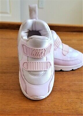 NIKE AIR MAX Toddler Girl's White/Pink Sneaker Shoes Size 8C