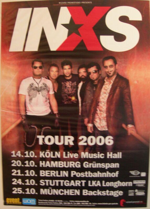 INXS CONCERT TOUR POSTER 2006