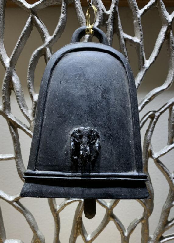 ELEPHANT BELL KAREN HILL TRIBE Bronze Metal thai india handbell