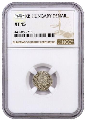 Random Date 1450-1620 Hungary Silver Denar Madonna & Child NGC XF45 SKU44476