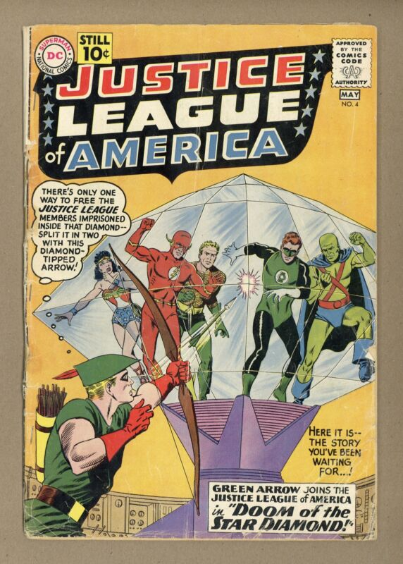 Justice League of America #4 FR/GD 1.5 1961