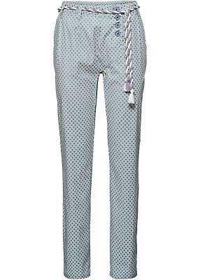 Chino-Hosen mit Print Gr. 50 Grau Gepunktet Damenhose Freizeit-Pants R-Ware Neu