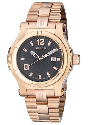 New mENS Renato T-Rex Swiss ETA 2824 Automatic 50mm Big Rose Watch