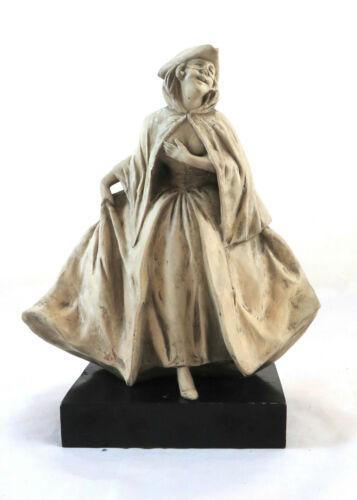 Old Figurine IN Ceramic Bisquit Mask Carnival Venice Signed BM11