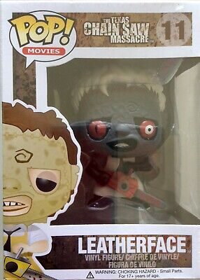 Ultra rare Leatherface Funko pop movies #11 repainted by Erick Scarecrow 10/12 !