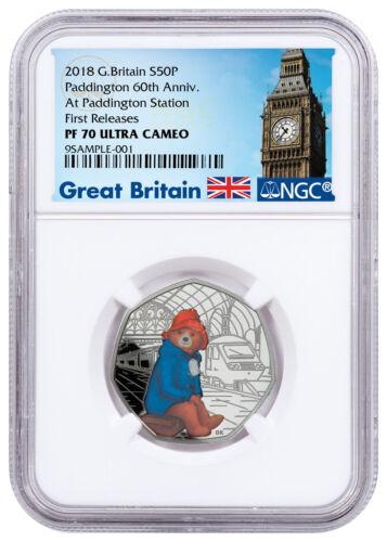 2018 Britain Paddington Station Bear 8 g Silver Proof NGC PF70 UC FR SKU54484