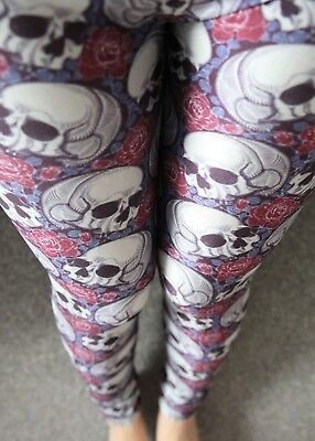 Hammer Leggings Skelett S/M Skull Skeleton Totenköpfe 36 - Halloween Leggings