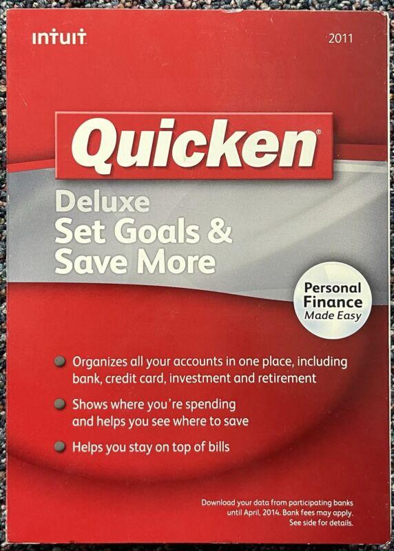 Intuit Quicken Deluxe 2011 For Windows Set Goals & Save More