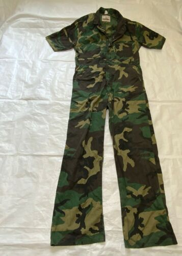 RANGER Vintage Camo Coveralls One Piece Jumpsuit Hunting Size Large Made in USA