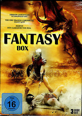 Fantasy Box - 3 DVD's - neu & ovp - Dragon Chronicles, Marcus - Gladitor von Rom online kaufen