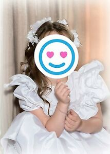 Flower Girl Dress & Head Piece