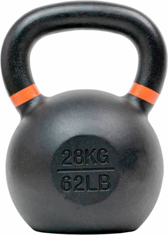 Tru Grit - 62-lb Cast Iron Kettlebell - Black