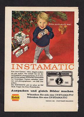 3w2879/ Alte Reklame von 1963 - Fotoapparat KODAK Instamatic