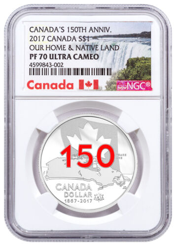 2017 Canada 150th Home & Native Land 3/4 oz Silver Enameled NGC PF70 UC SKU49729