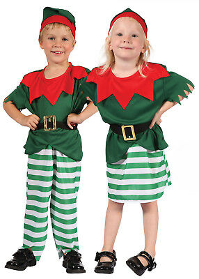 Toddler Kids Childs Elf Santa Santas Helper Christmas Fancy Dress Costume 2-3 (Toddler Santa Costume)